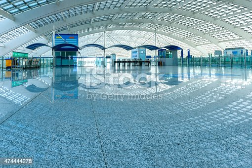 istock Hall of business airport building 474444278