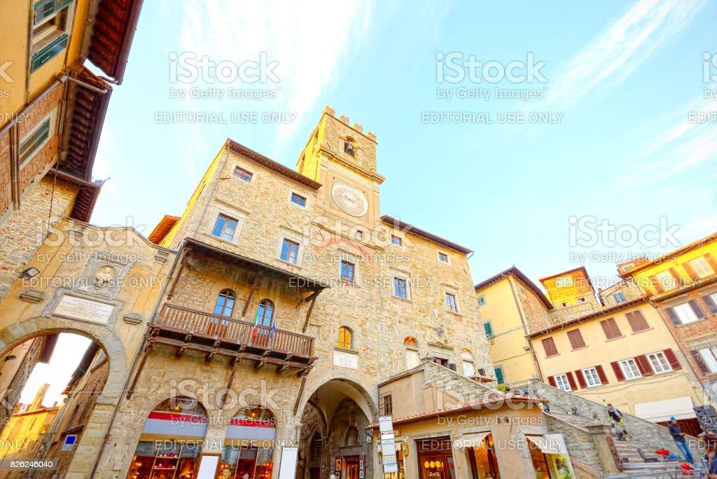 Hall of Cortona, Arezzo, Tuscany - foto stock