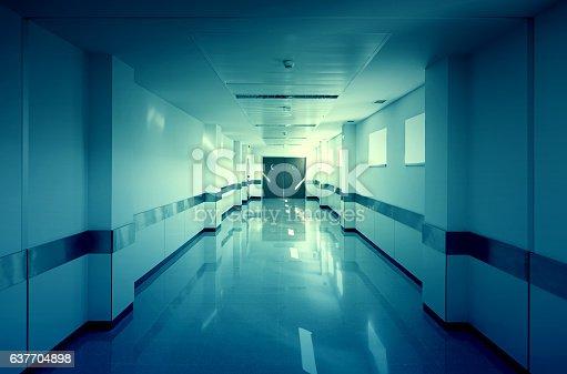 istock Hall of deep hospital 637704898