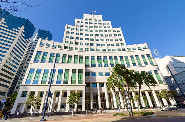 Hall of Justice, San Diego stock photo