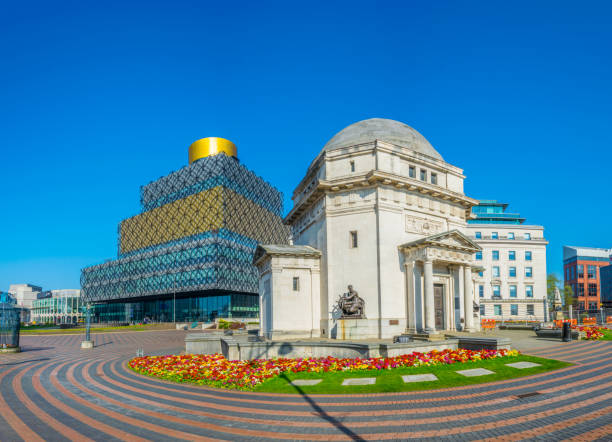 Hall of Memory, Library of Birmingham and Baskerville house, England Hall of Memory, Library of Birmingham and Baskerville house, England 100th anniversary stock pictures, royalty-free photos & images