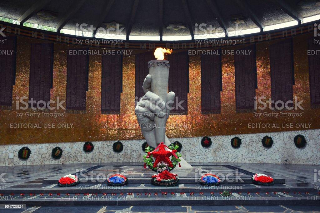 Hall of Military Glory on Mamaev Kurgan royalty-free stock photo