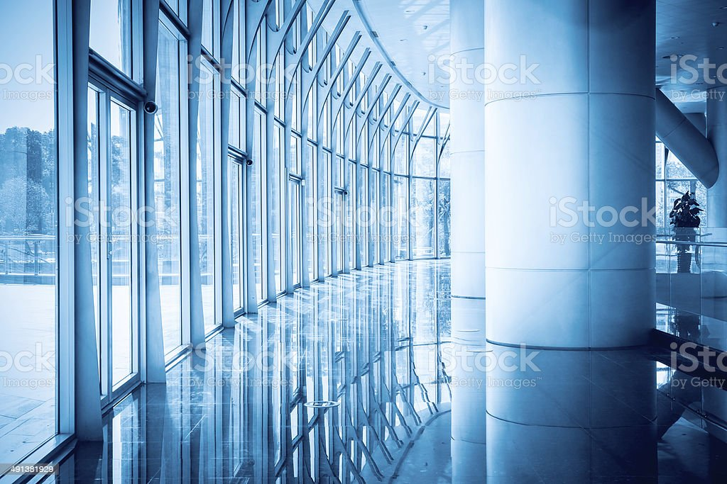 hall of modern building stock photo