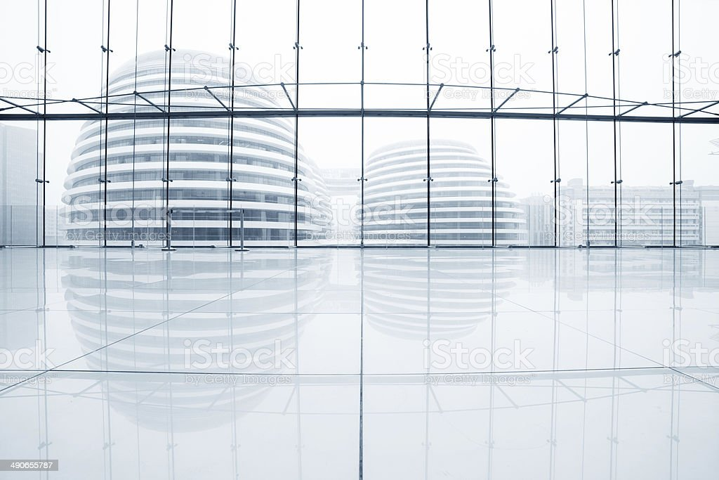 hall of modern office stock photo
