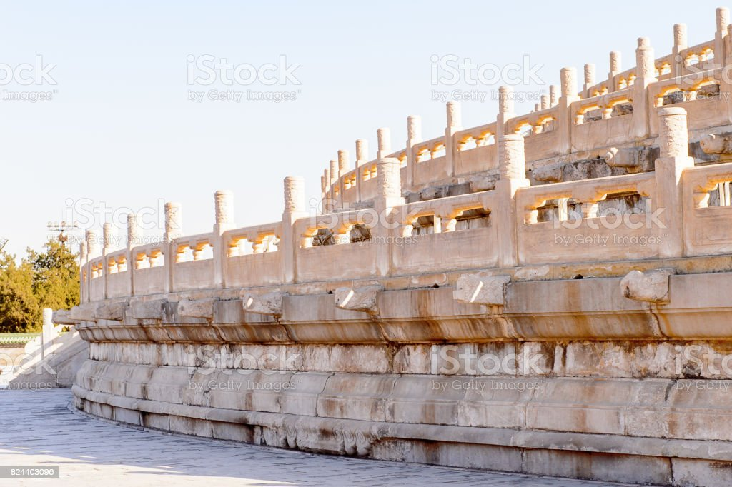Hall of Prayer for Good Harvests of the  Temple of Heaven, an Imperial Sacrificial Altar in Beijing. UNESCO World Heritage stock photo