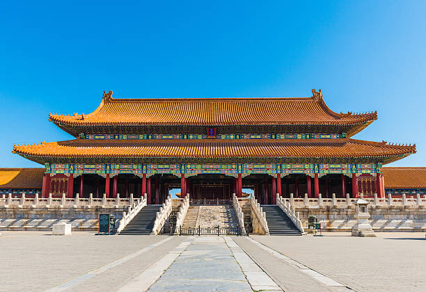 Hall of Supreme Harmony, Forbidden City in Beijing Hall of Supreme Harmony, Forbidden City in Beijing forbidden city stock pictures, royalty-free photos & images