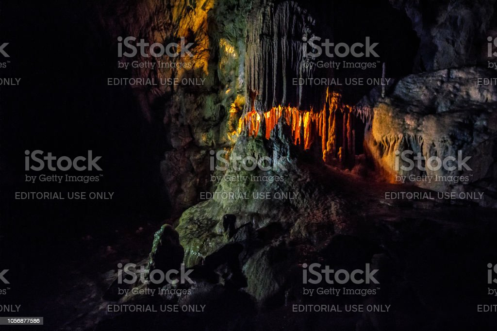 Hall of Ursus cave stock photo