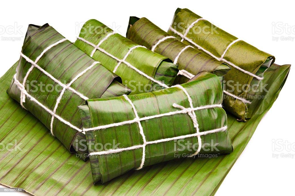 Hallacas - Venezuelan Christmas traditional food stock photo