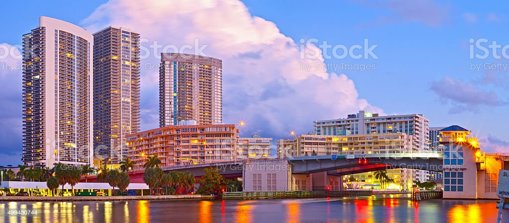 Hallandale Beach Florida stock photo