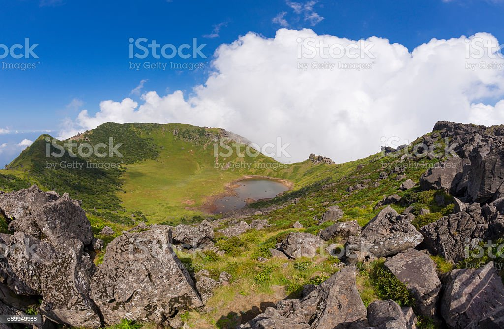 Hallasan volcano crater on Jeju Island in South Korea. - Lizenzfrei Asien Stock-Foto
