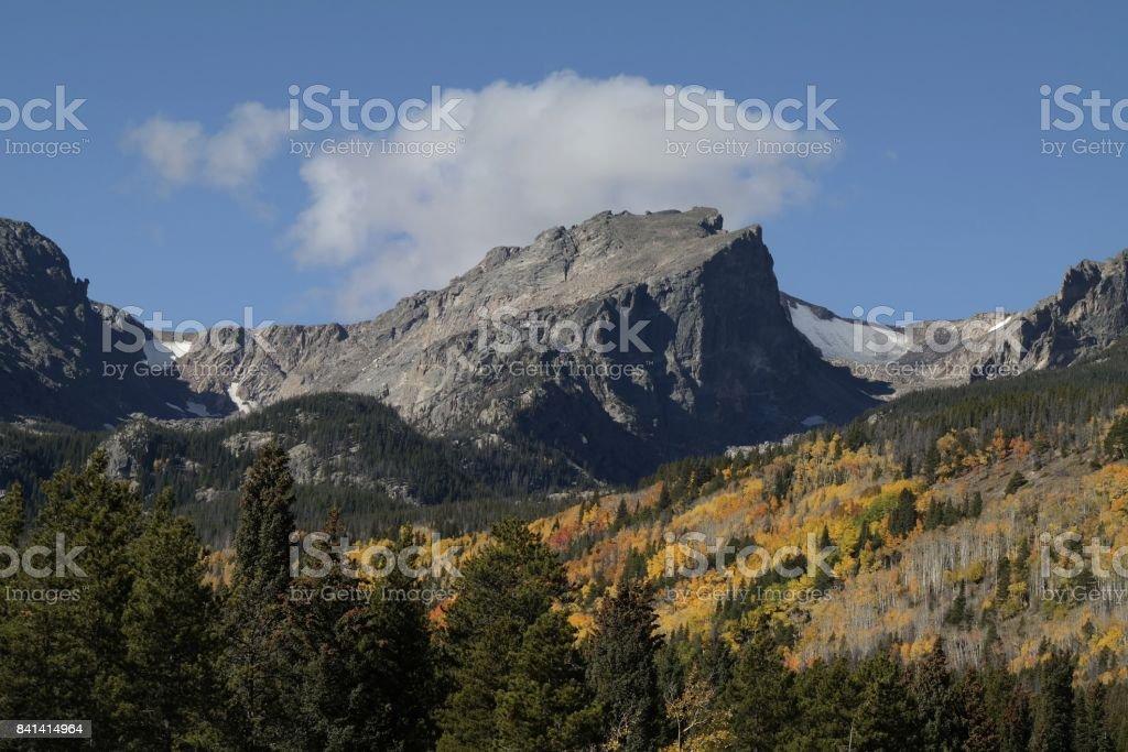 Hallett in Autumn stock photo