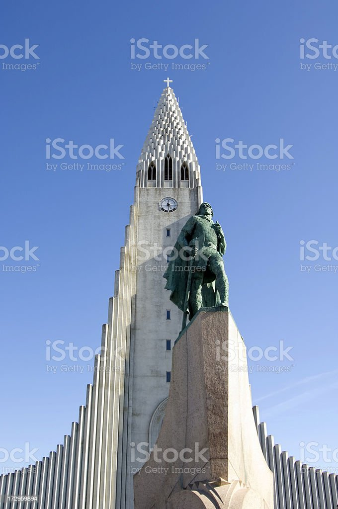 Hallgrimskirkja cathedral, Reykjavik Iceland stock photo
