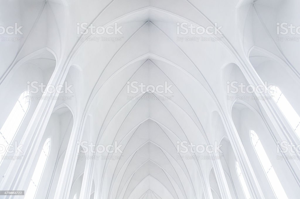 Hallgrimskirkja Church, Reykjavik,Iceland stock photo