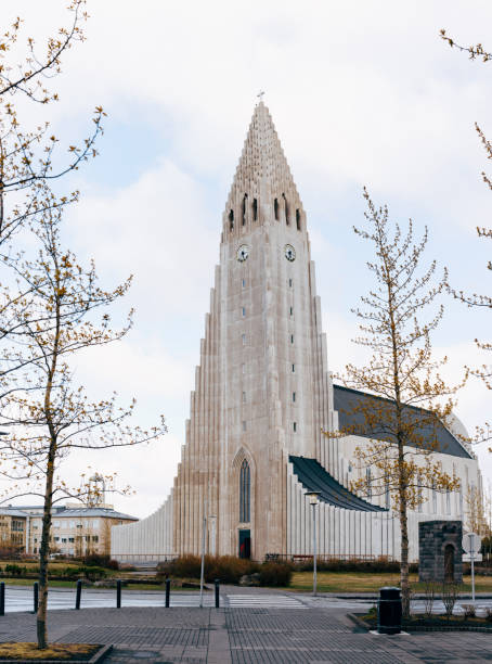 Hallgrimskirkja is a Lutheran church in Reykjavik, the capital of Iceland. Hallgrimskirkja is a Lutheran church in Reykjavik, the capital of Iceland. High quality photo Hallgrímskirkja church stock pictures, royalty-free photos & images