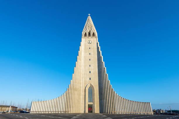 Hallgrimskirkja Reykjavik, Iceland, Europe Cityscape of Reykjavik Hallgrimskirkja, Iceland, Europe Hallgrímskirkja church stock pictures, royalty-free photos & images