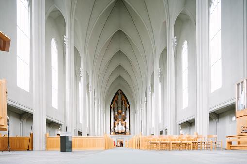 Hallgrímskirkja, Lutheran Cathedral Church of Raykjavik, interior