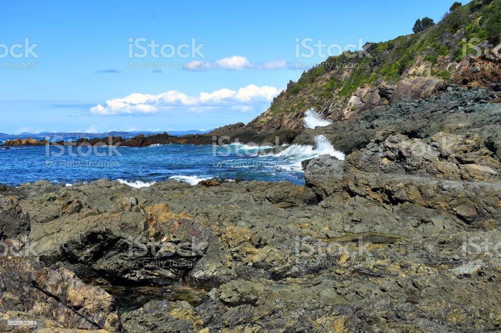 Hallidays Point Landscape stock photo