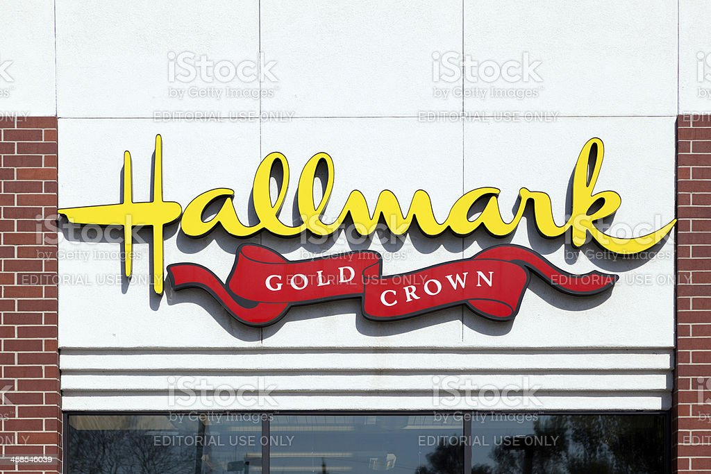 Hallmark Gold Crown stock photo
