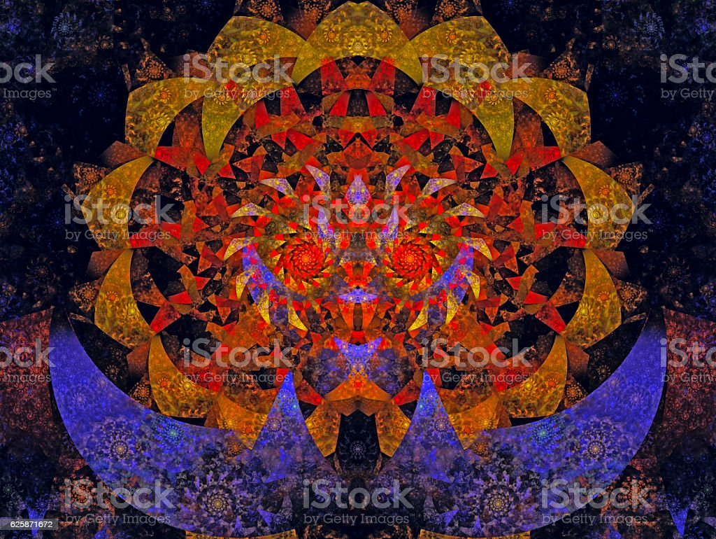 Halloween Abstract Magic Energy Multicolored Fractal 3d