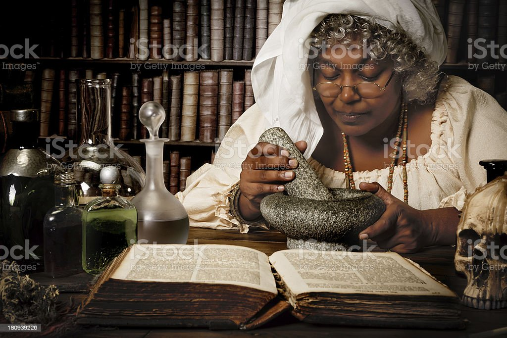 Halloween alchemist stock photo