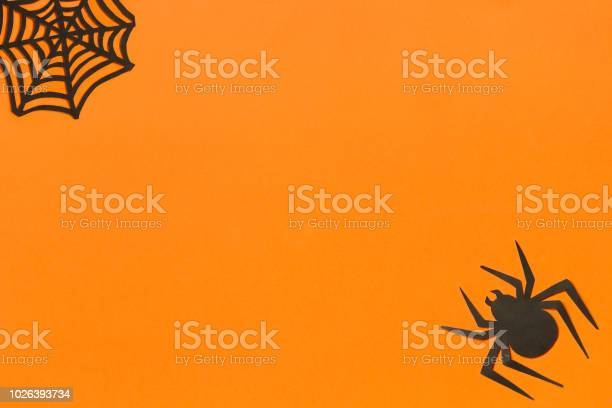 Halloween background black paper spider and spiderweb on orange picture id1026393734?b=1&k=6&m=1026393734&s=612x612&h=tqdt4g0ki2e4i4j xipkk4cipyhd34qtosahmalfy58=