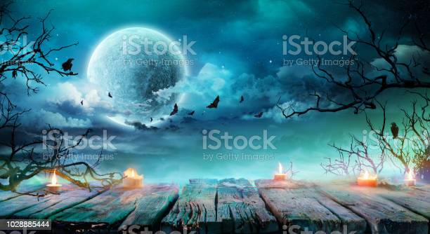Halloween background old table with candles and branches at spooky picture id1028885444?b=1&k=6&m=1028885444&s=612x612&h=47sgflpozqlcbju97v8807osbejbt wl jrqvdl2k0y=