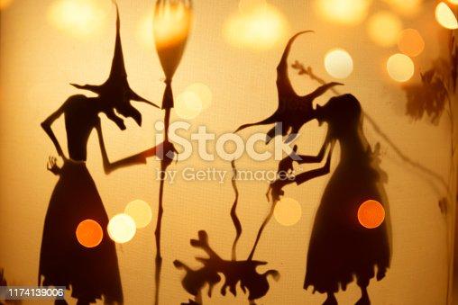 Halloween background - Witches brew