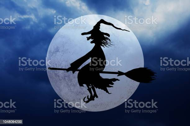 Halloween background with full moon and flying witch picture id1048094200?b=1&k=6&m=1048094200&s=612x612&h=l0wzwrqigonjkjx zevkl7budeli6gmdecdhkhd31k8=