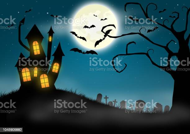 Halloween background with haunted castle and graveyard picture id1045905882?b=1&k=6&m=1045905882&s=612x612&h=c xyiodmjn49ftr2om61xlx470aa9ensqsgwelxvcxa=
