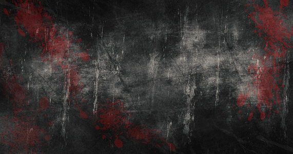Halloween Background with scratches and blood stains 3d illustration