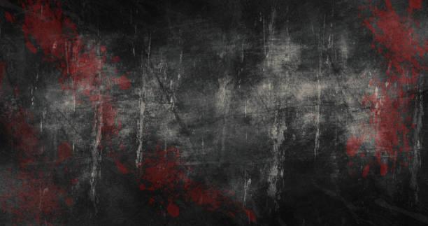 halloween tło z zadrapaniami i plamy krwi 3d ilustracji - horror zdjęcia i obrazy z banku zdjęć