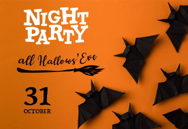 halloween bats - halloween party einladungen stock-fotos und bilder