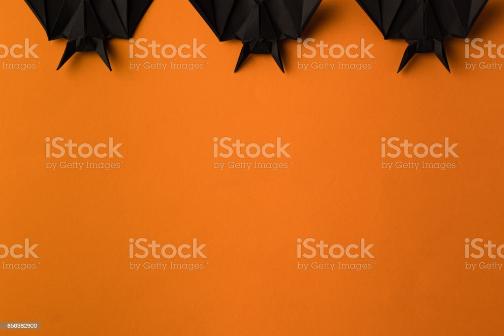 halloween bats with copy space stock photo