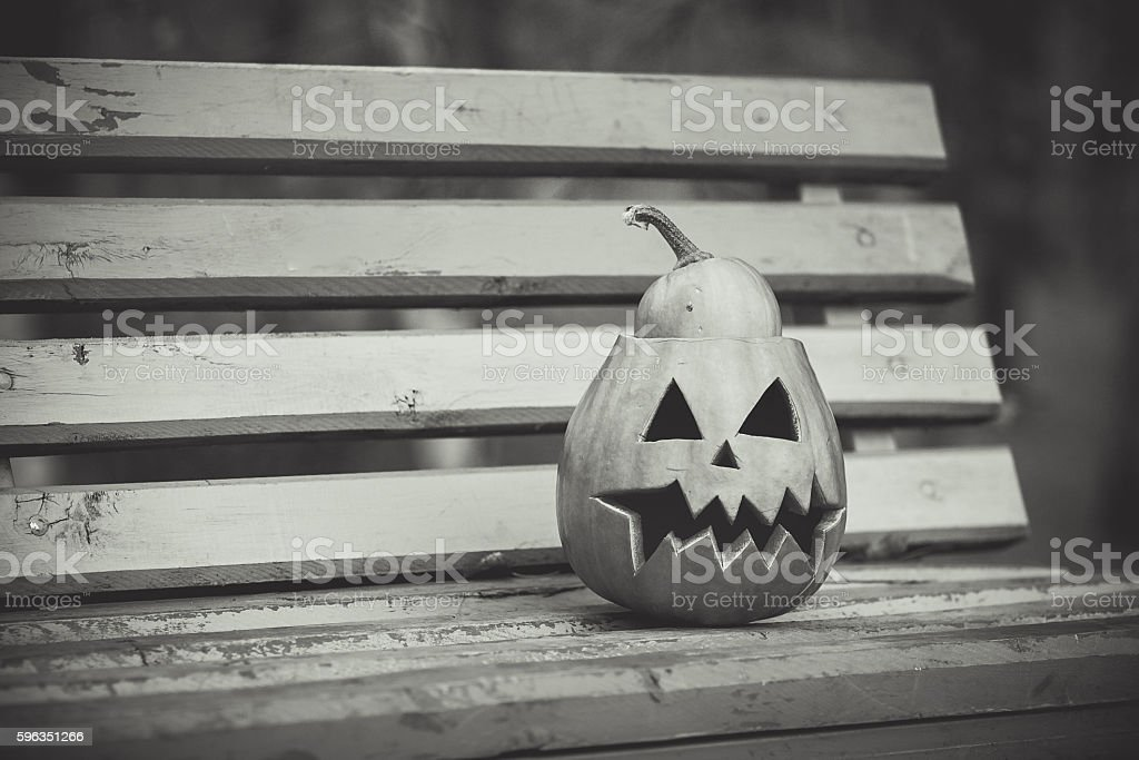 halloween. black and white royalty-free stock photo