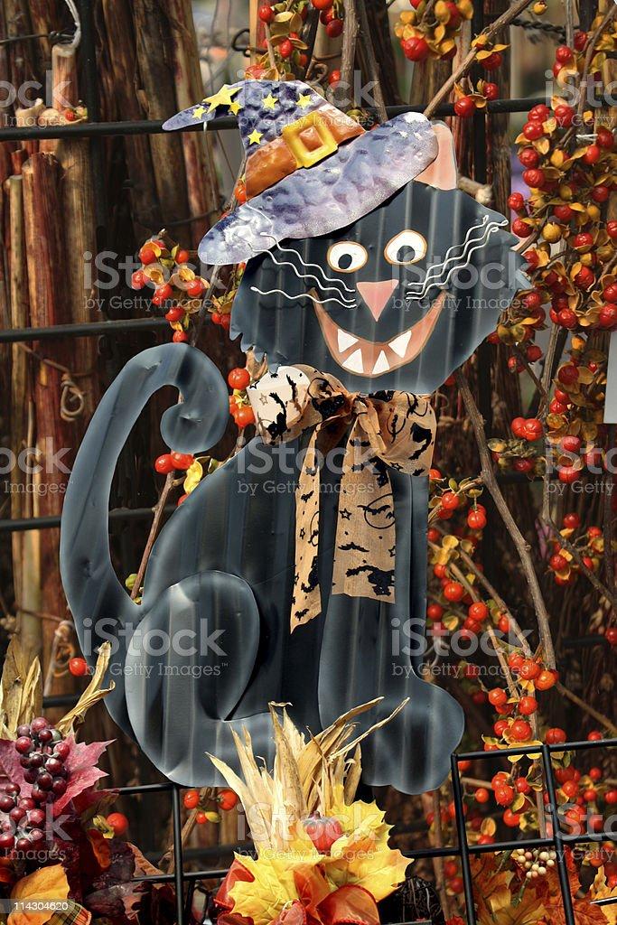 Halloween Black Cat royalty-free stock photo