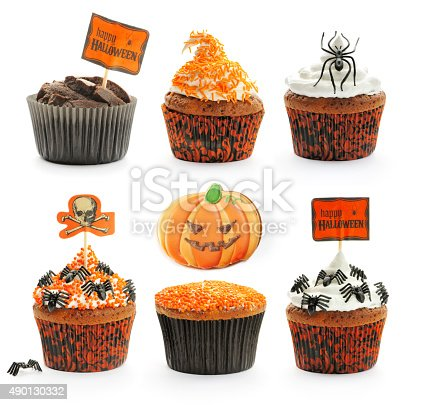 1057069236 istock photo Halloween cakes set 490130332
