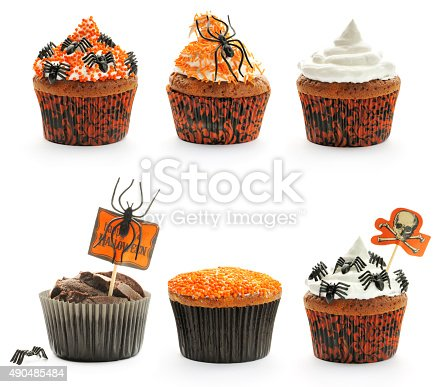 1057069236 istock photo Halloween cakes set 490485484