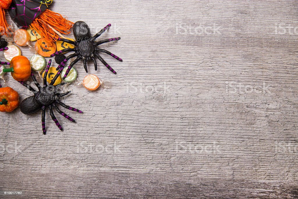 Halloween candy background stock photo