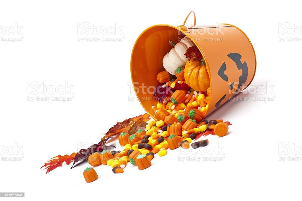 Halloween Candy Basket royalty-free stock photo