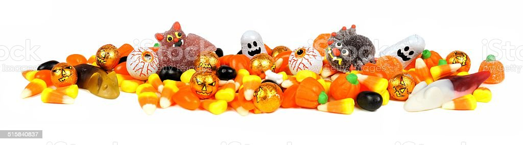 Halloween candy border stock photo