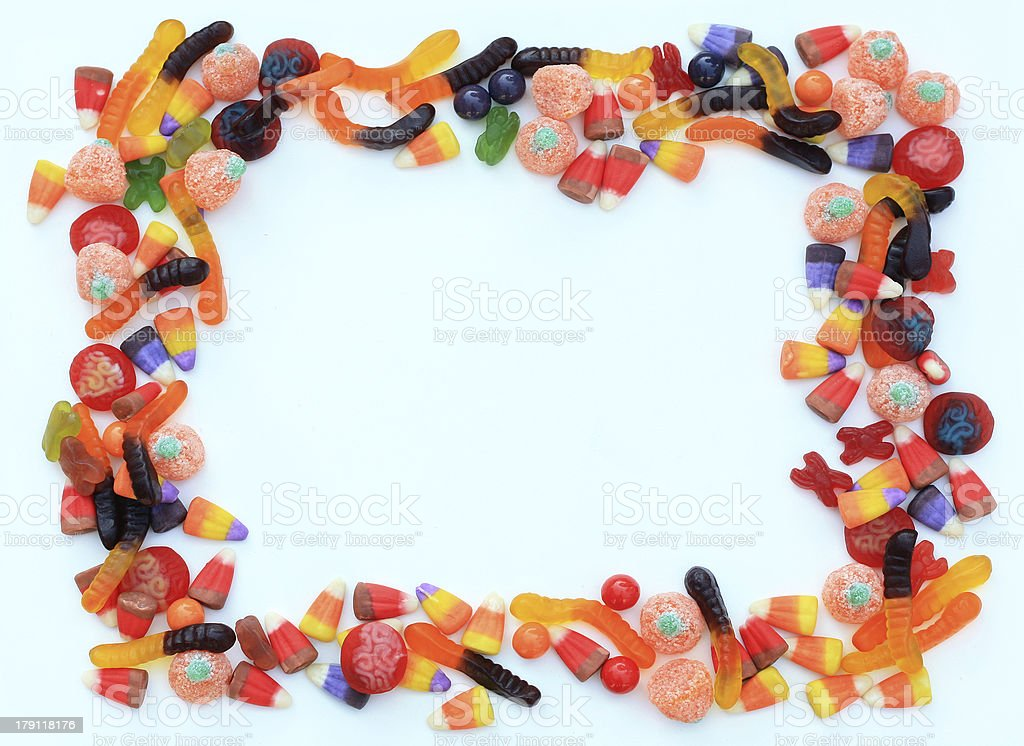 Halloween Candy Frame royalty-free stock photo