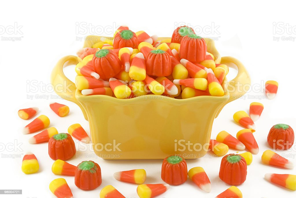 Halloween Candy In A Dish royalty free stockfoto