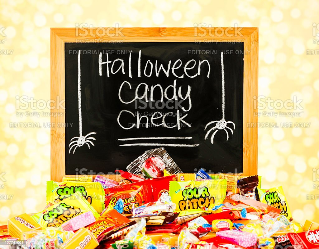 halloween candy safety message royalty free stock photo