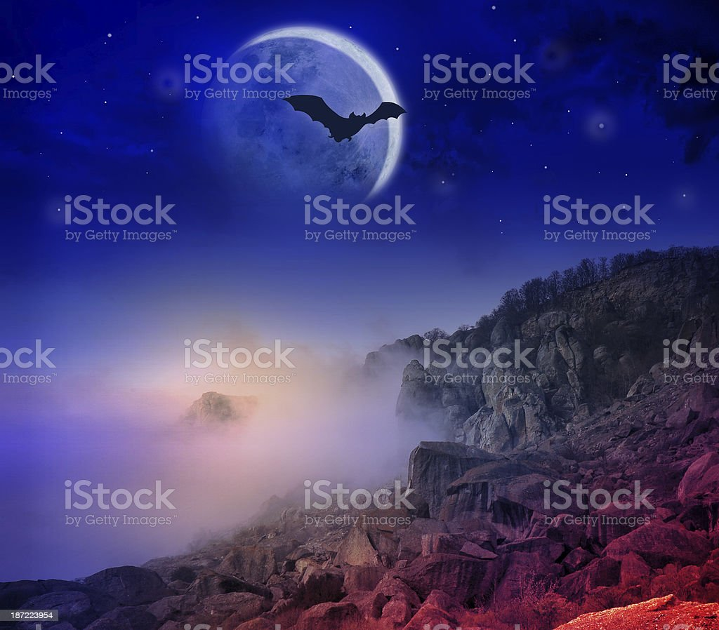 Halloween card, poster. royalty-free stock photo