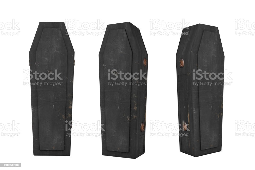 Halloween Casket Coffin Old stock photo