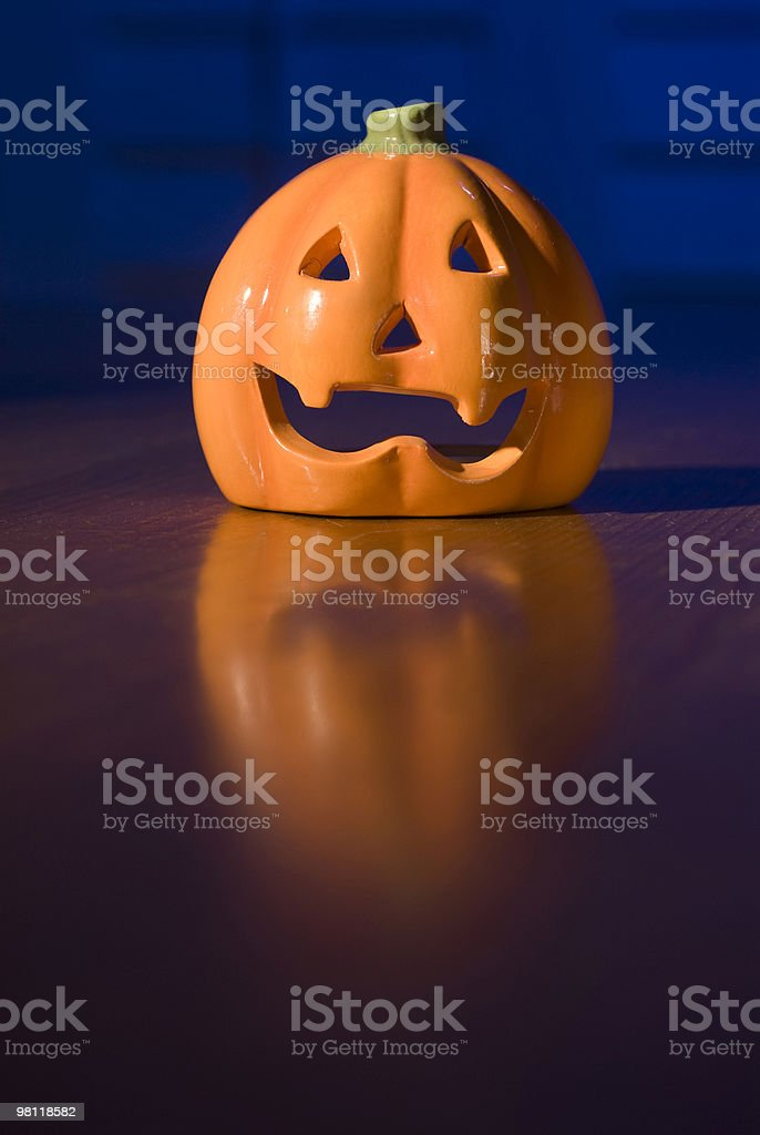 Halloween Ceramic Pumpkin royalty-free stock photo