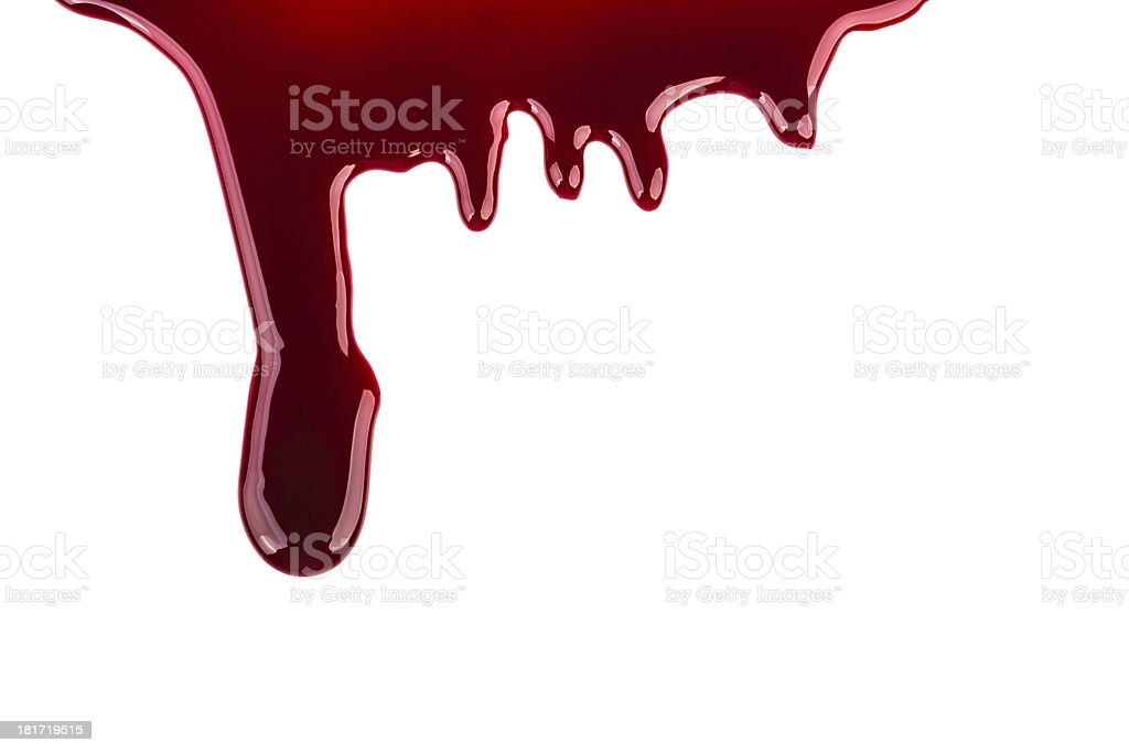 Halloween concept : Blood dripping royalty-free stock photo