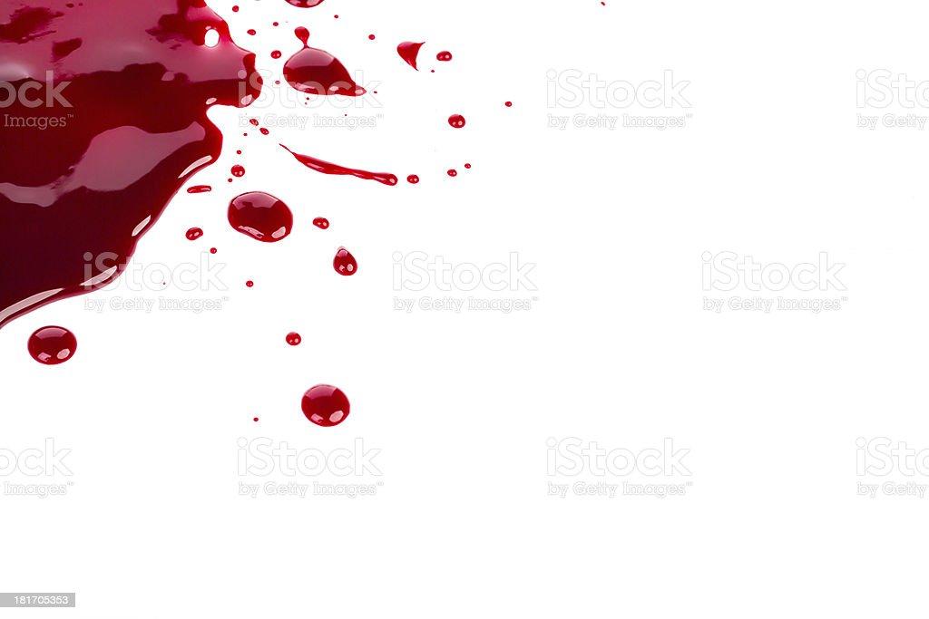 Halloween concept : Blood splatter on white background royalty-free stock photo