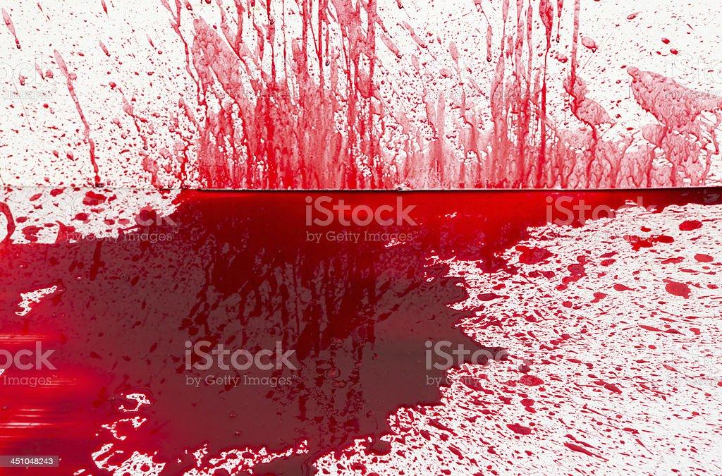 Halloween concept : Blood splatter stock photo