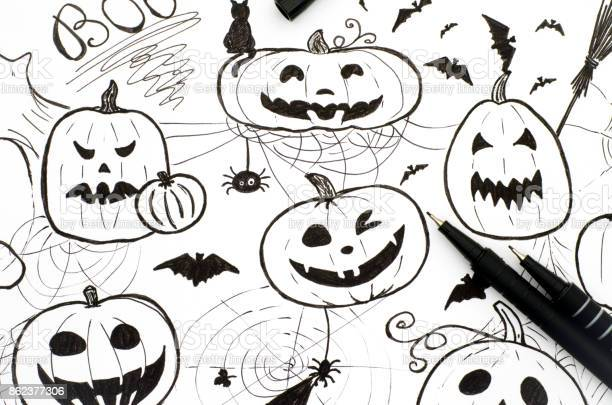 Halloween concept markers hand drawing with two pens picture id862377306?b=1&k=6&m=862377306&s=612x612&h=mlozvs8jcz1ztiv 3ksutv1qjlgz3acfkrlvzyfovm0=